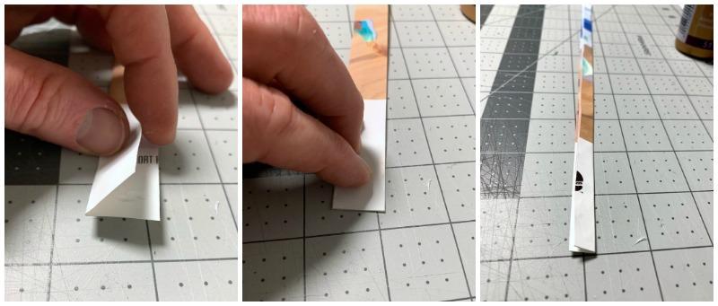 Fold and glue magazine strip