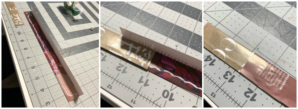 Glue the 1-inch magazine strips together