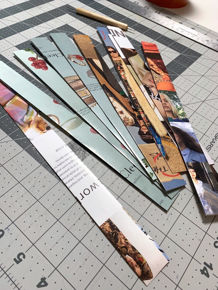 Magazine bowl knob strips