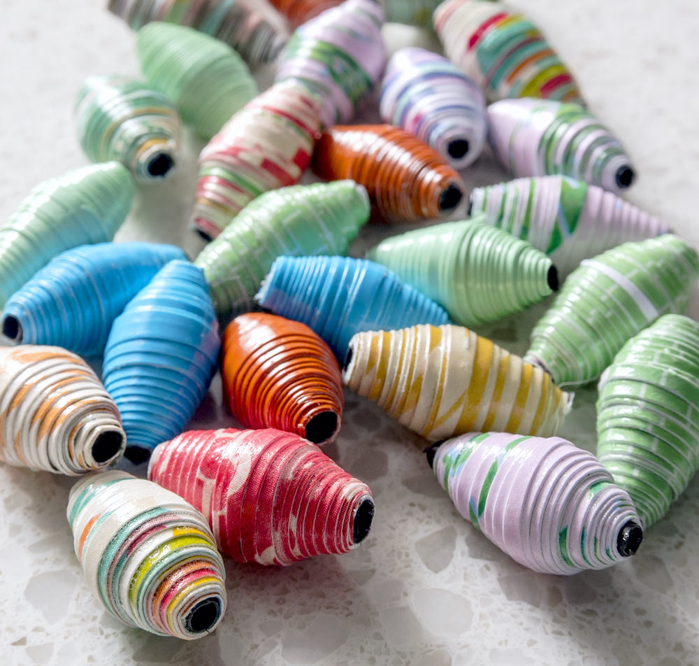 Making paper beads