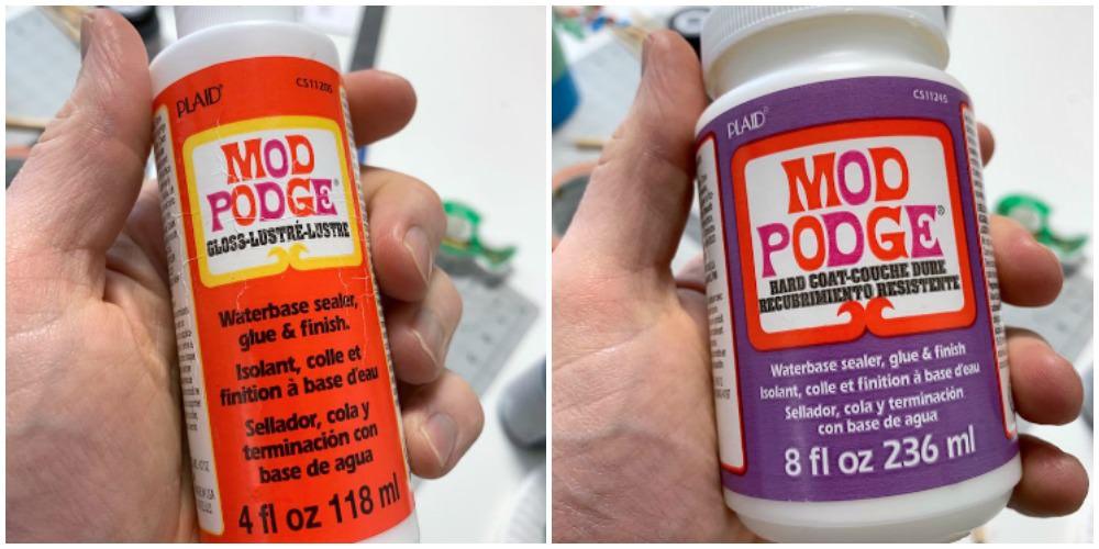 Mod Podge Gloss and Mod Podge Hard Coat