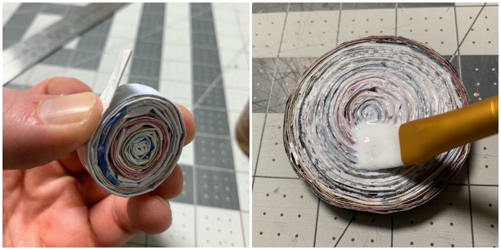 Paper magazine bowl base