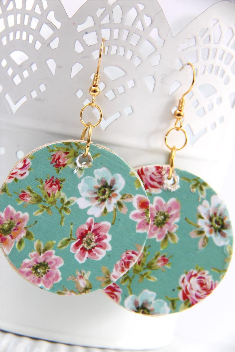 Decoupage earrings