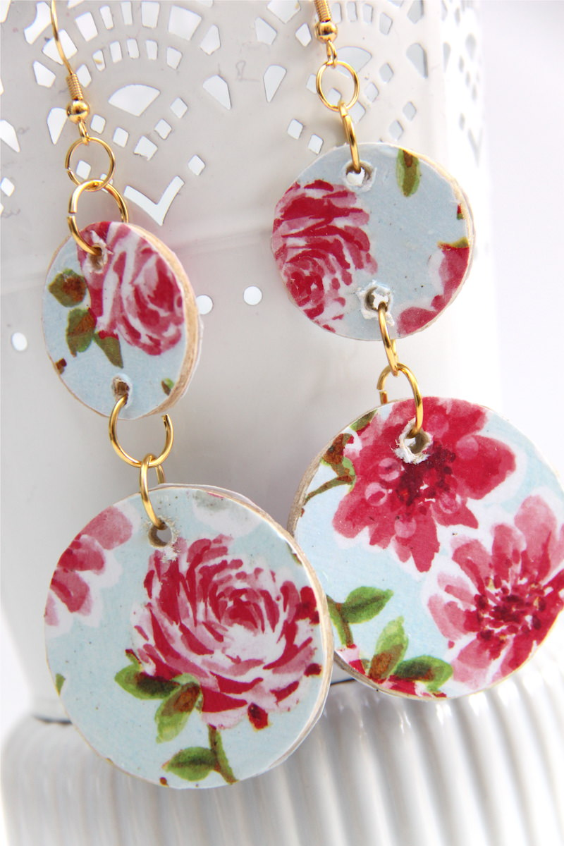 Mod Podge earrings