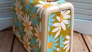 Decoupage suitcase