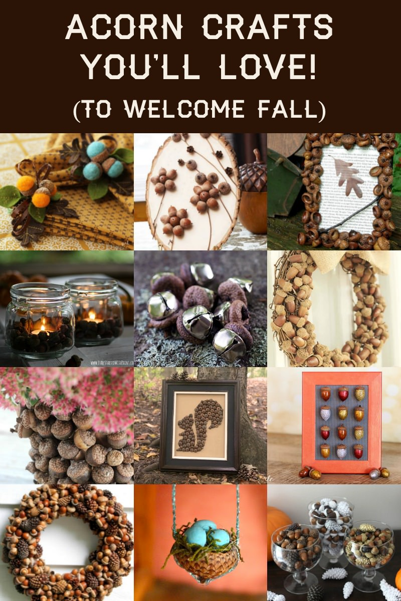 acorn crafts to welcome fall