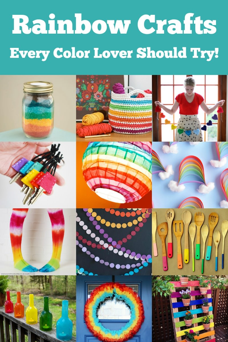 rainbow crafts for kids and for adults