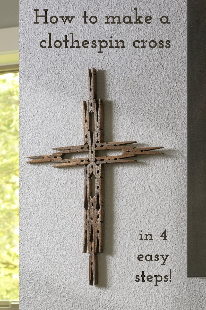 Make a clothespin cross
