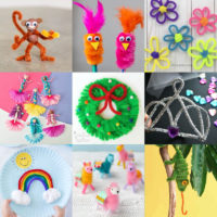 Crafts made with chenille stems