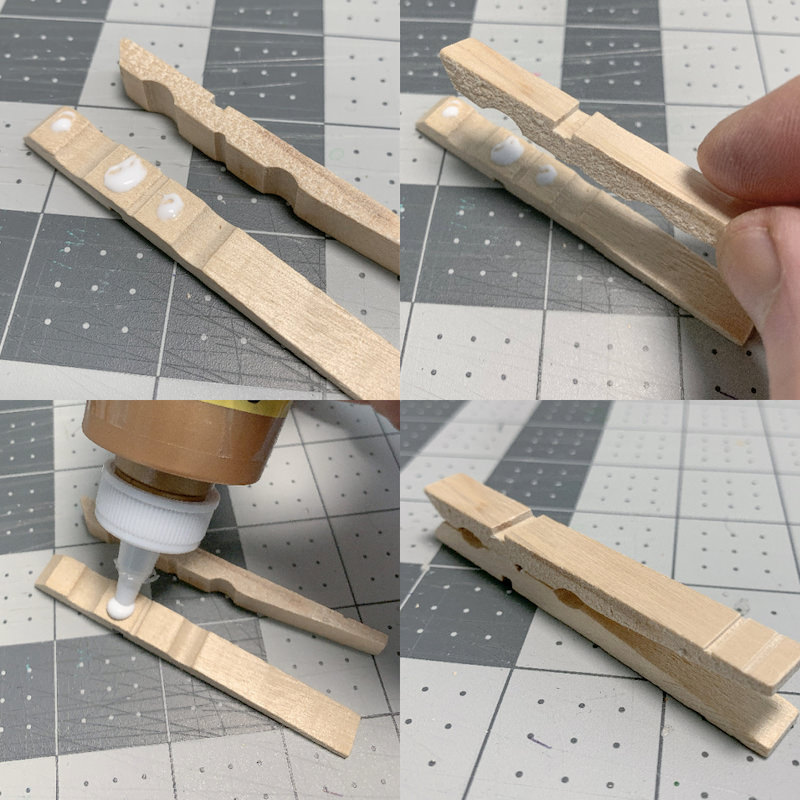 Gluing-the-clothespins