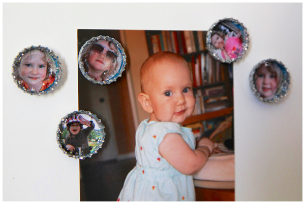 How to make photo bottle cap magnets