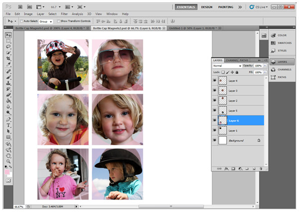 Size photos for printing