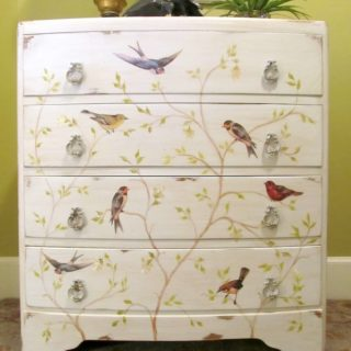 Decoupage dresser chest of drawers