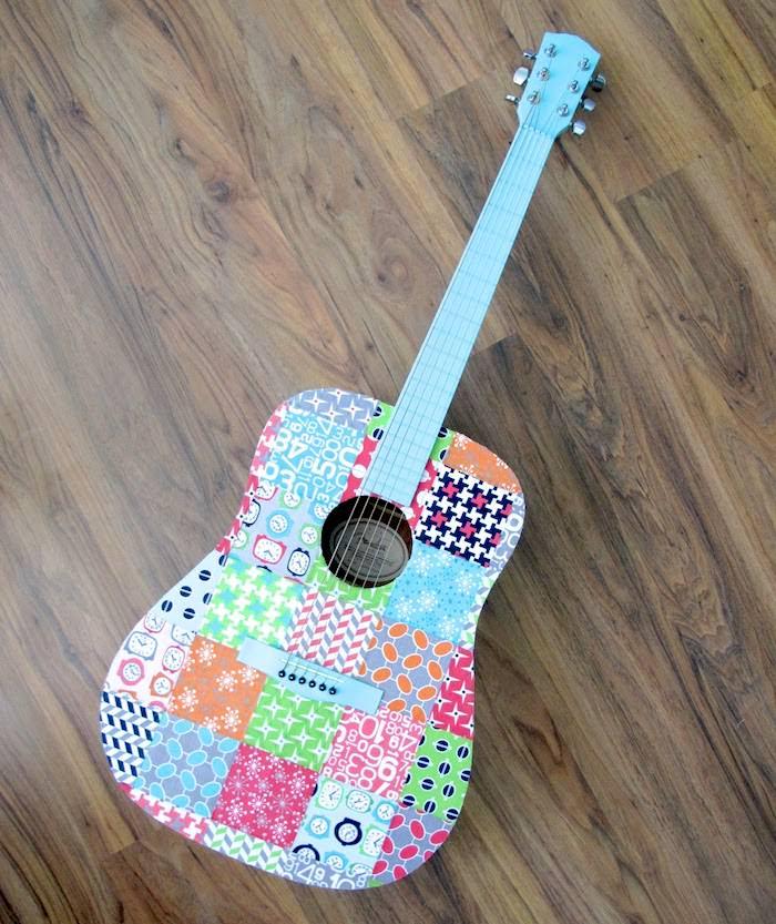 Decoupage guitar