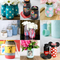 Painted Mason Jars Feature Image