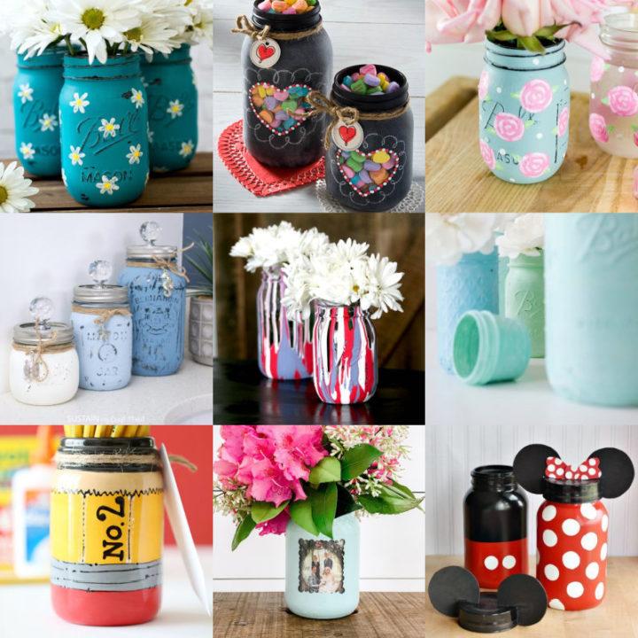 Painted Mason Jars Feature Image