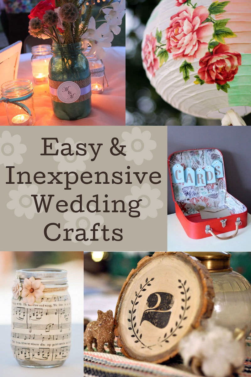 Beautiful Wedding Crafts On a Dime (with Mod Podge!)