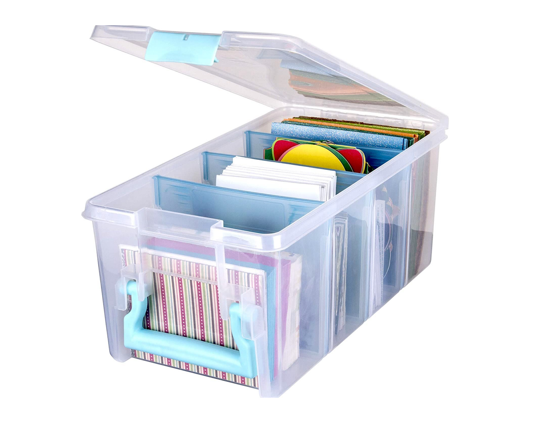 ArtBin 6925AA Semi Satchel with Removable Dividers Portable Art & Craft Organizer with Handle