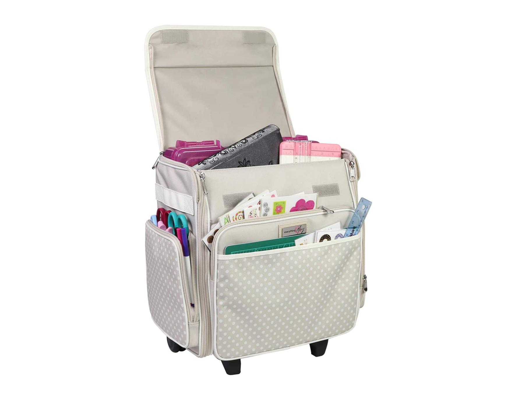 Craft Storage Bag on Wheels