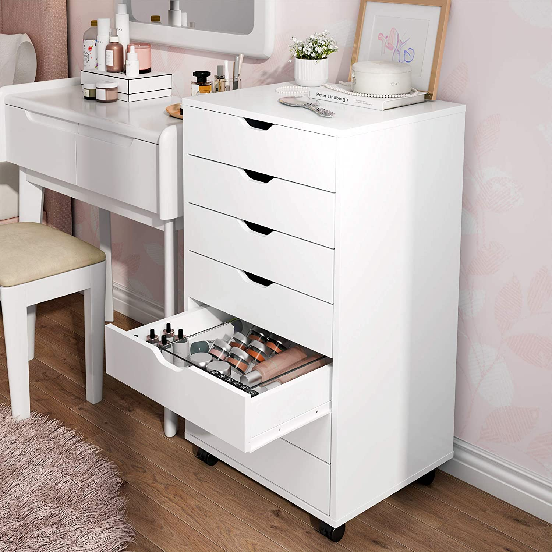 DEVAISE 7 Drawer Dresser, Storage Cabinet