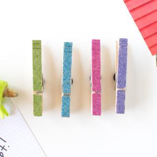 DIY clothespin magnets