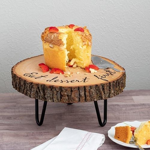 DIY wood slice cake stand Anikas DIY Life 1sq500