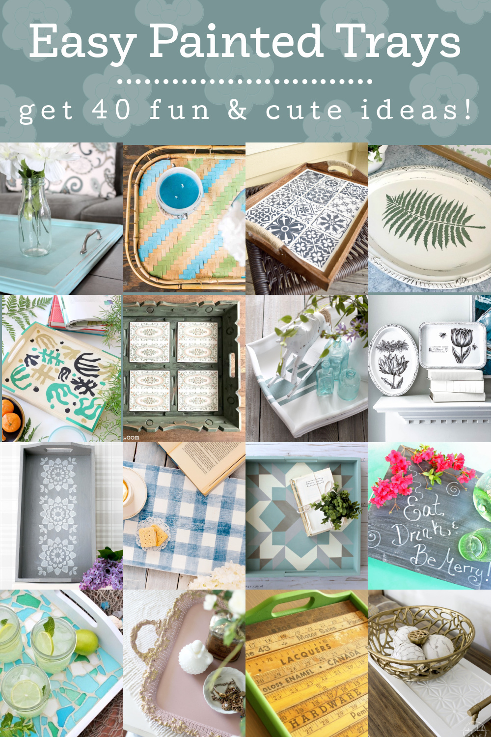 Easy Painted Trays