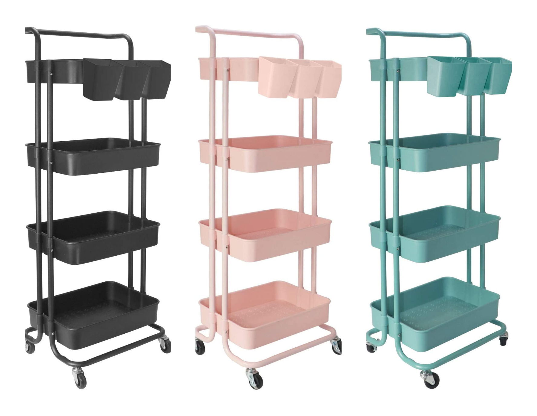 Four tier rolling carts