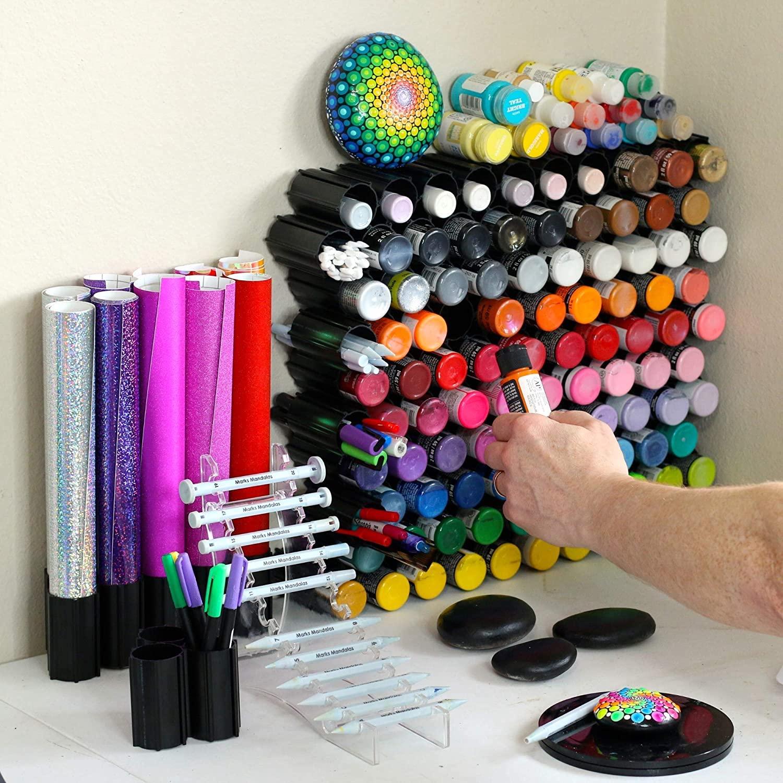 Hex Hive Craft Paint Storage Organizer Rack for 2 oz Paint Bottles
