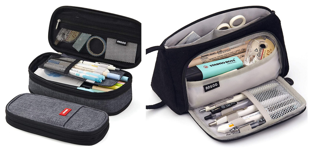 Pencil cases for storing craft supplies
