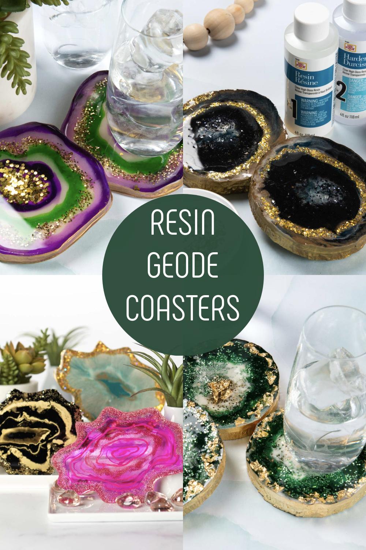 Resin Geode Coasters