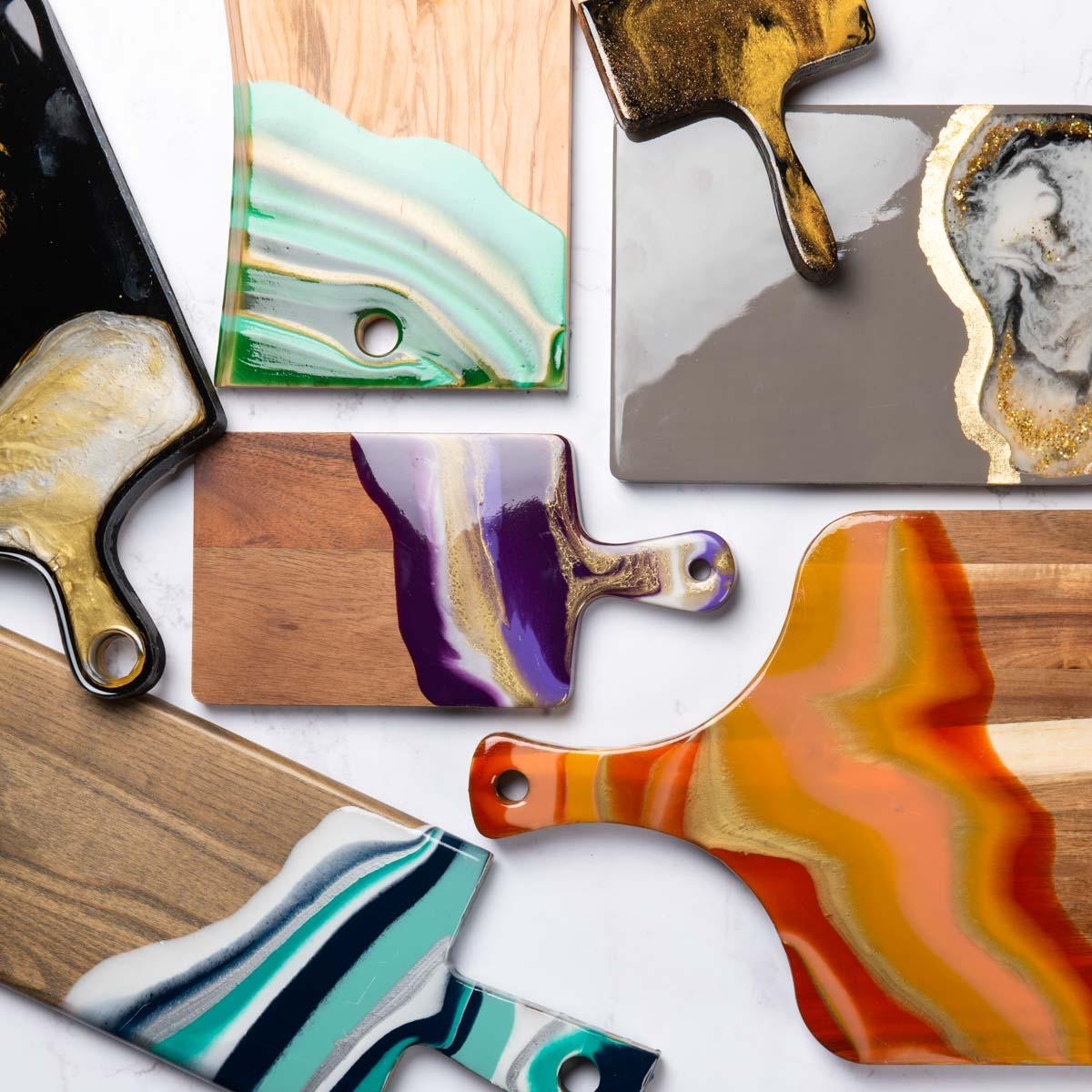 Resin cutting boards
