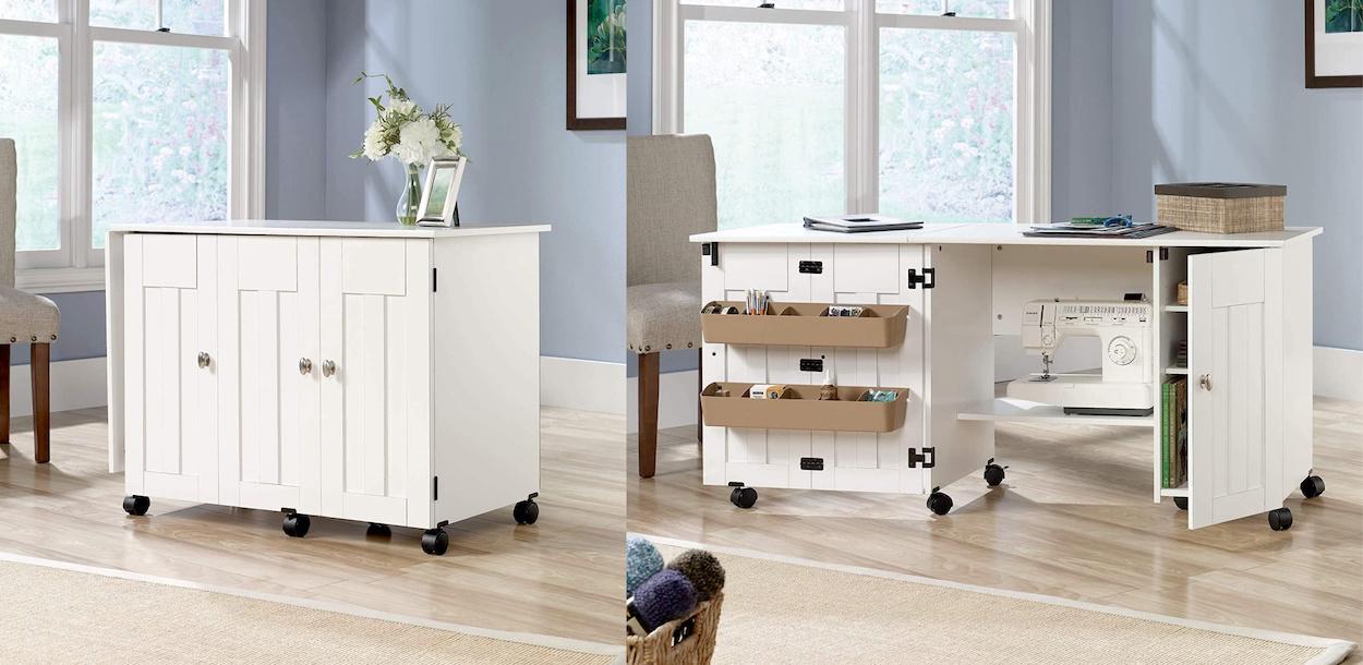 Sewing & Craft Cart, Soft White Finish