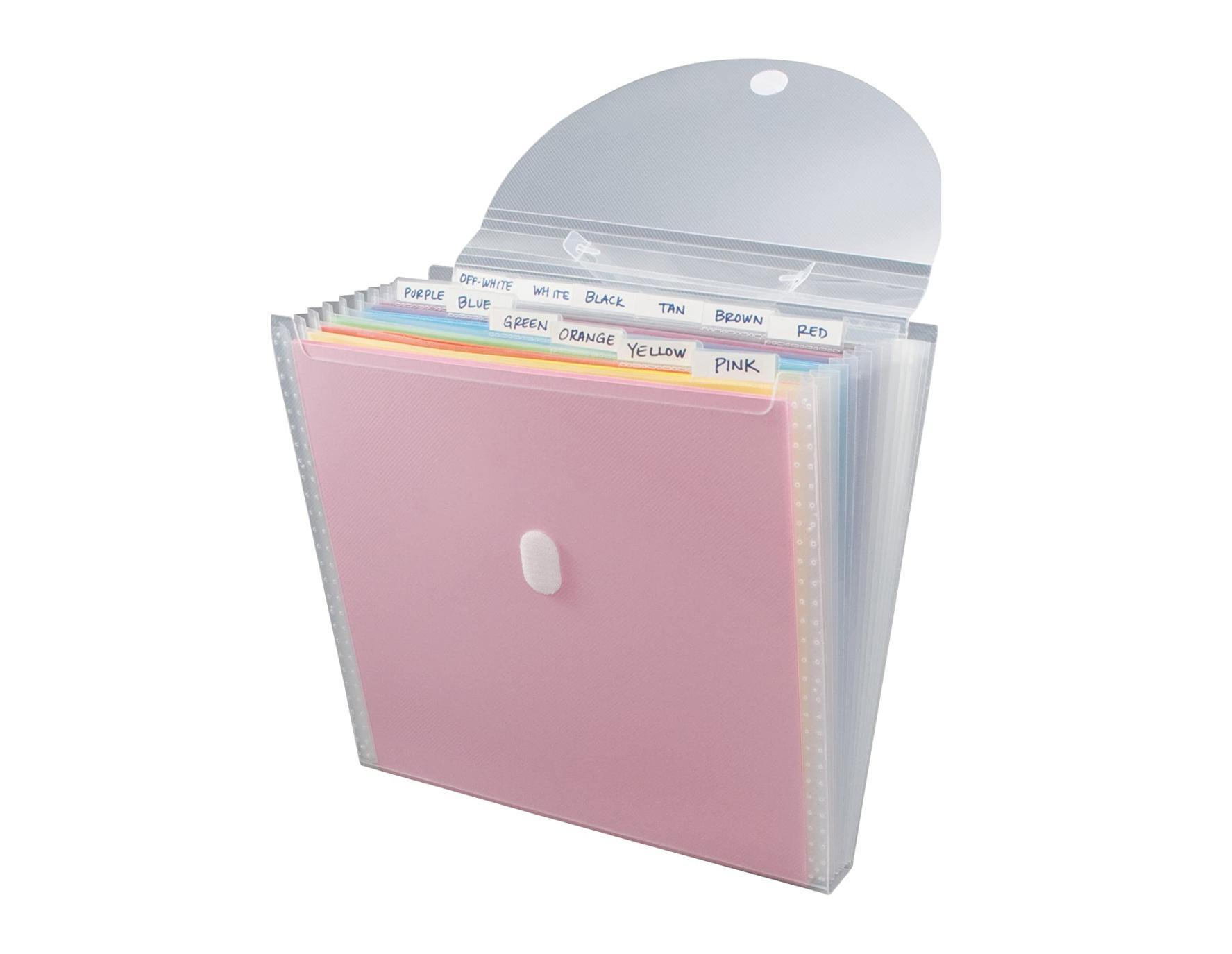 Storage Studios Expandable Paper Organizer 12 Pockets