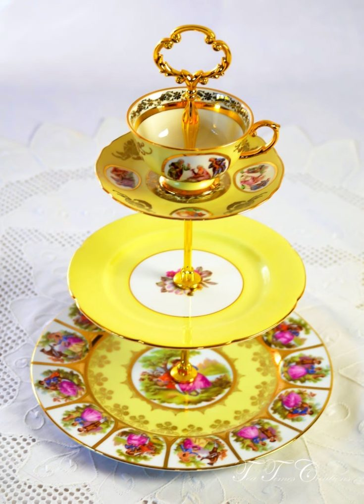 Three Tier Cake Stand Mad Hatter Style
