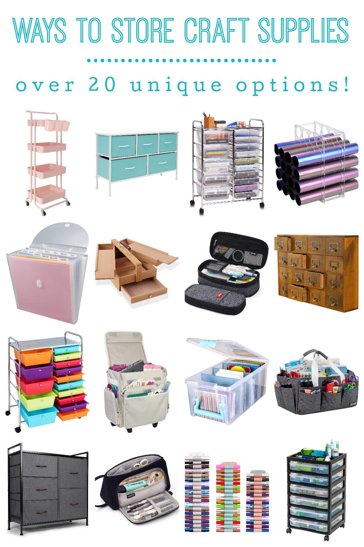 Ways to Store Craft Supplies