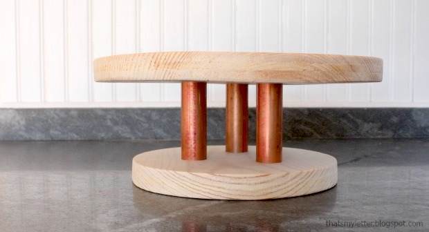 Wood Copper Cake Stand