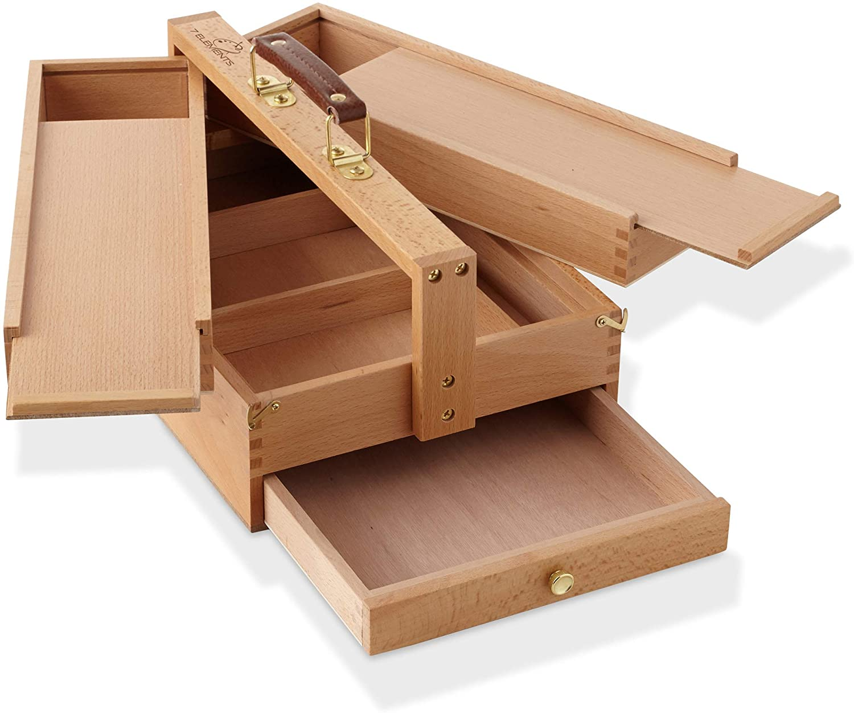 Wood Tool & Brush Box