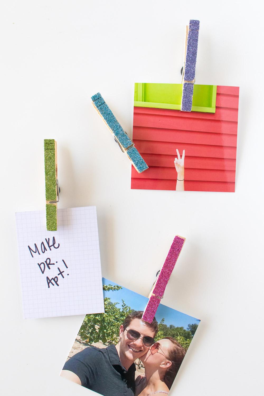 clothespin fridge magnets