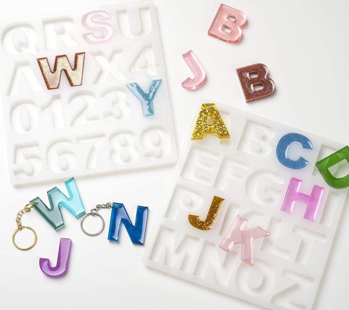 Alphabet Harz Schlüsselanhänger
