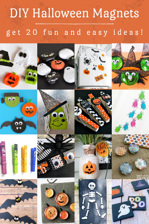 DIY Halloween Magnets