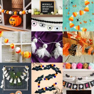 DIY Halloween garlands feature image