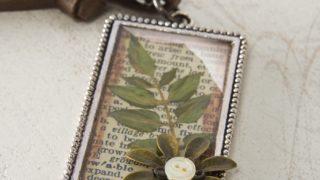 DIY leaf pendant