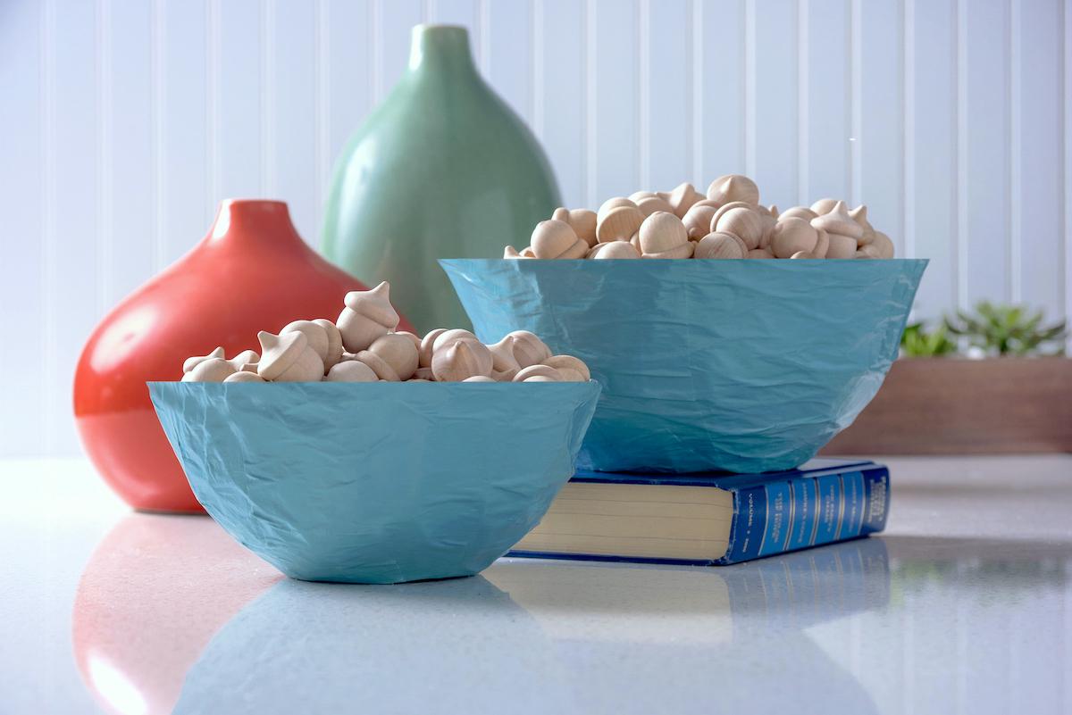 Mod Podge paper mache bowls