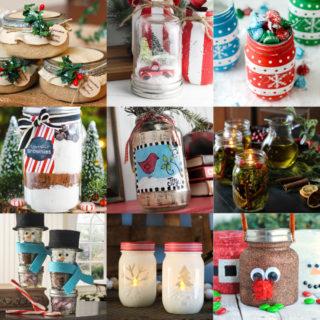 Christmas mason jars feature image