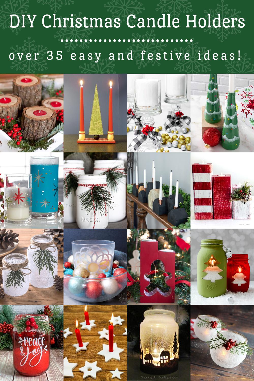 DIY Christmas Candle Holders