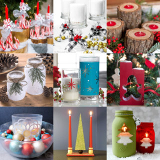 DIY Christmas candle holders feature image