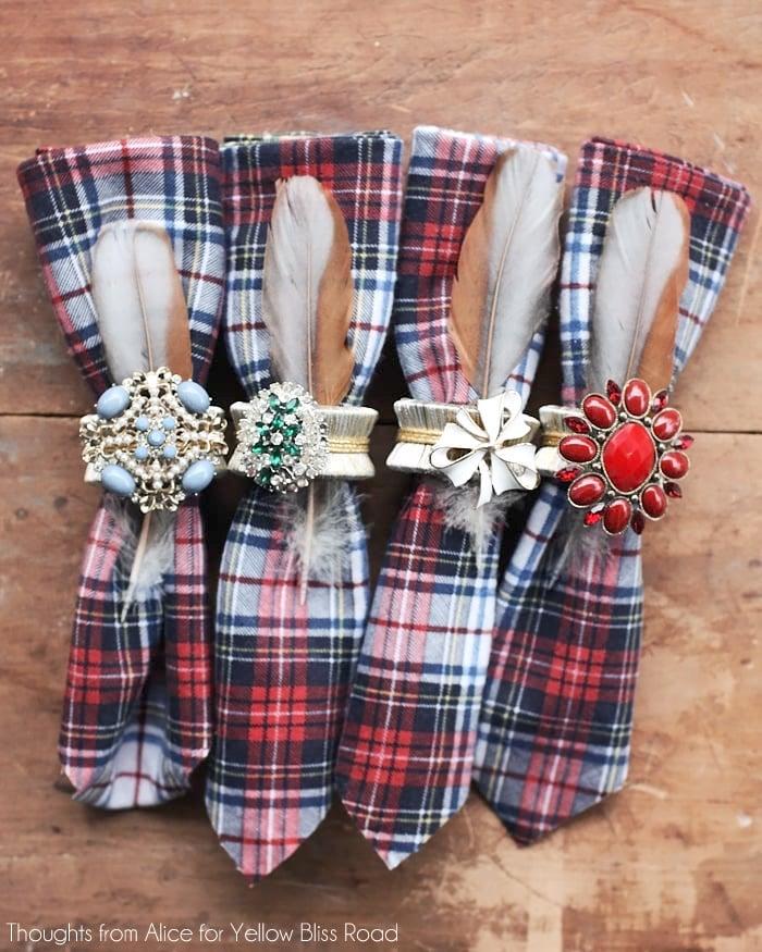 DIY Glam Napkin Rings