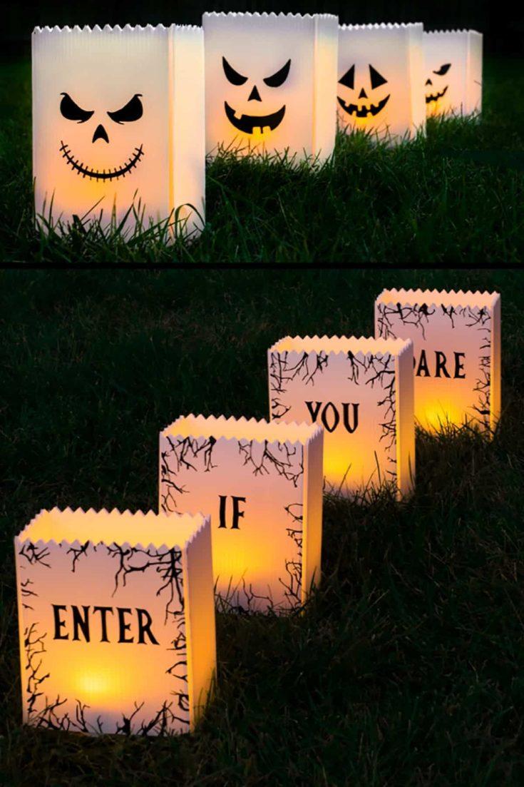 DIY Halloween Paper Lanters