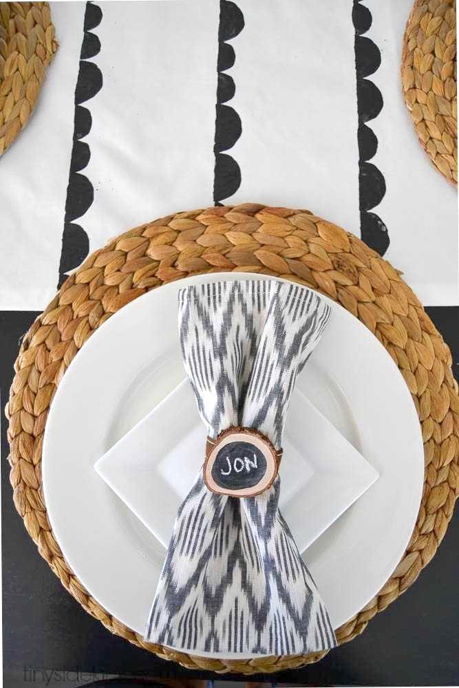 DIY Wood Slice Napkin Rings